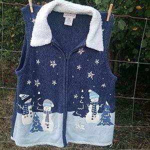 Adorable Ladies Snowman Vest